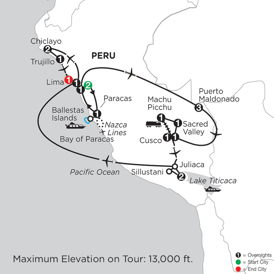 Journey through the Andes with Perus Amazon, Chiclayo & Trujillo