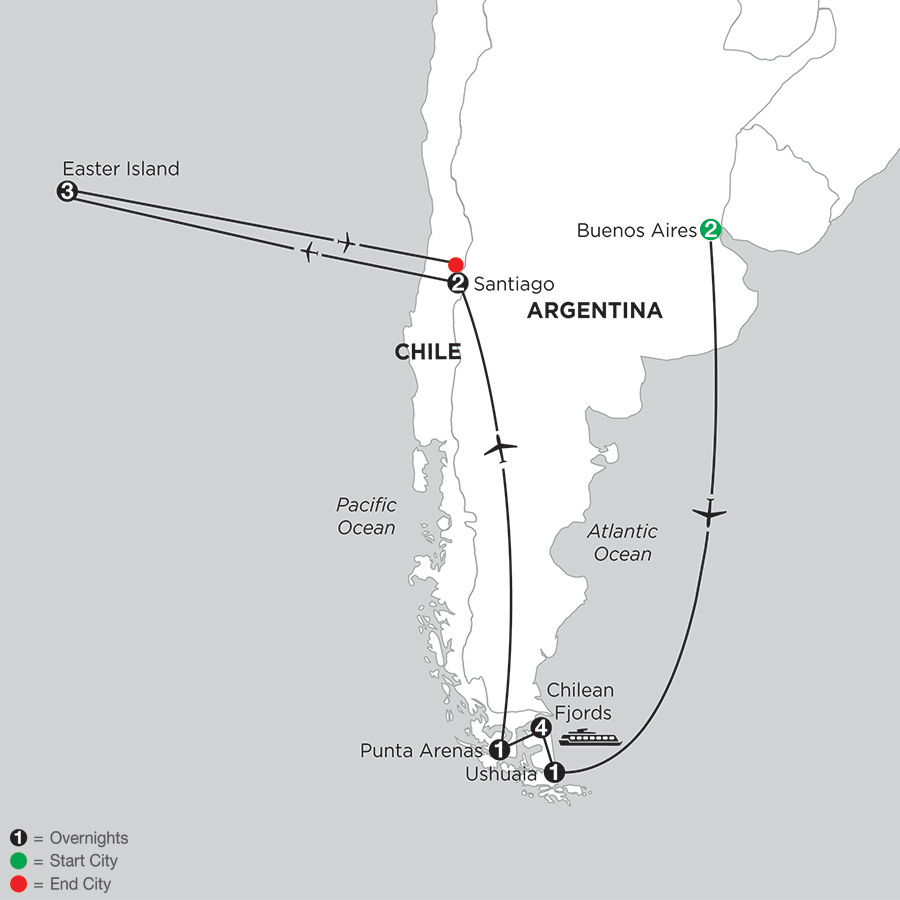 Patagonia & Chilean Fjords with Easter Island