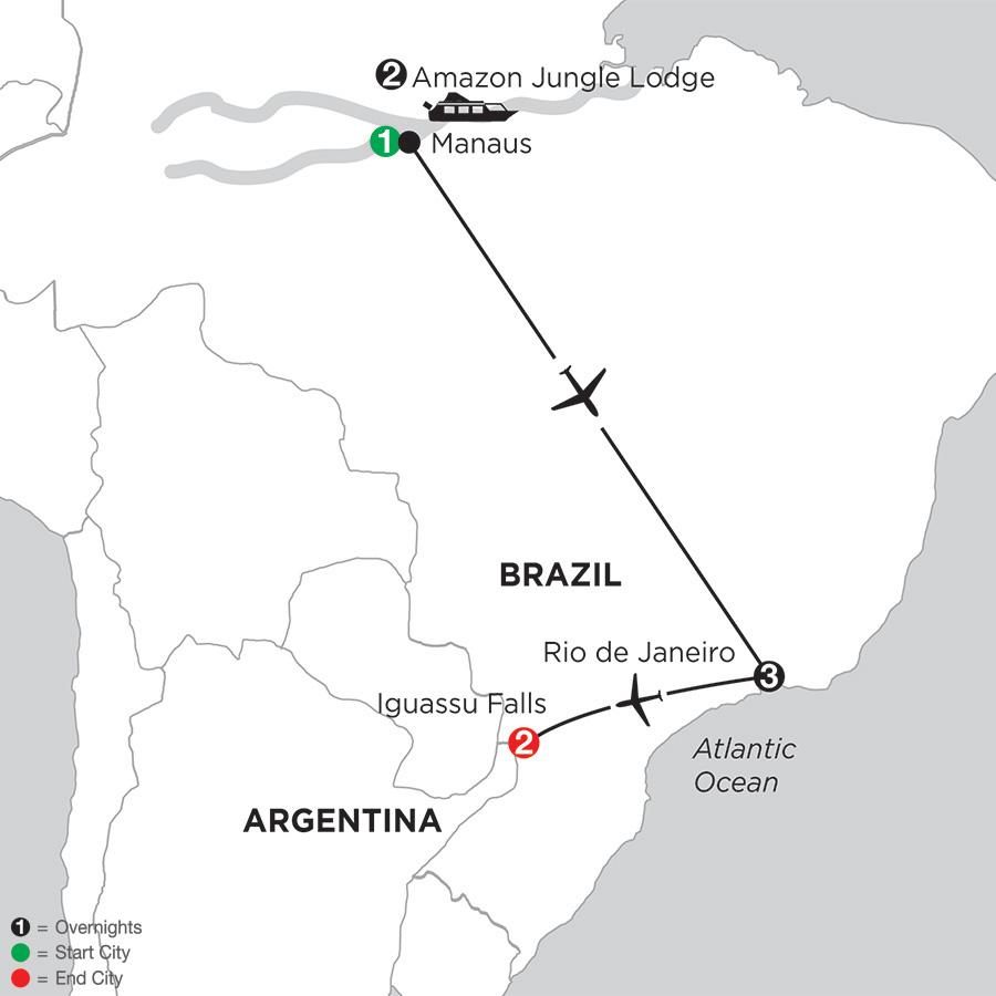 Brazil Highlights with Brazils Amazon