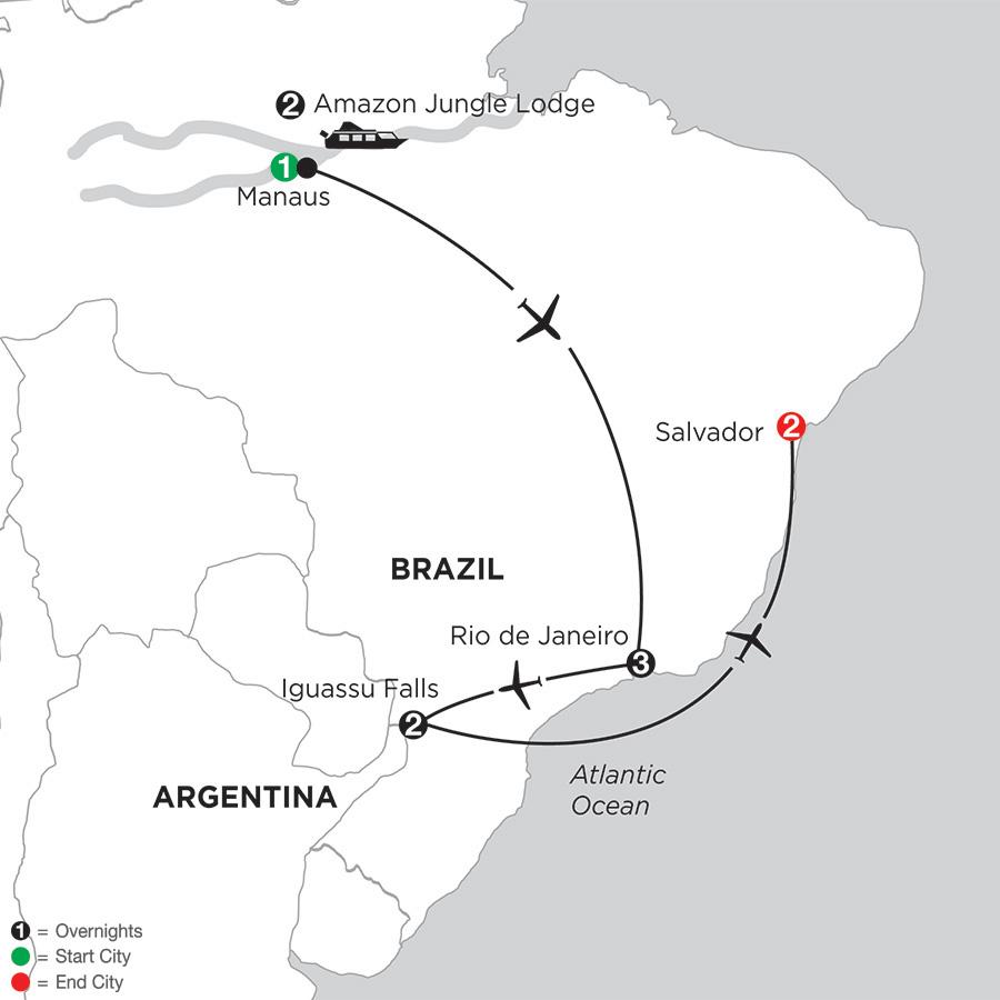 Brazil Highlights with Brazils Amazon & Salvador