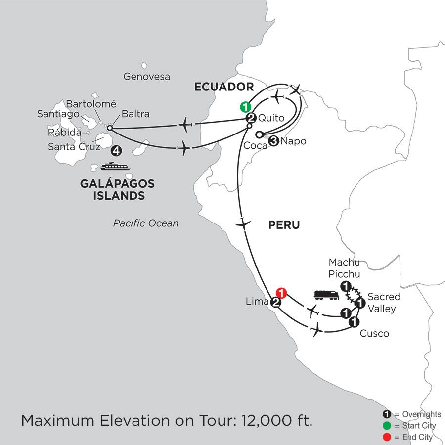 Cruising the Galápagos on board the Santa Cruz II with Peru & Ecuadors Amazon