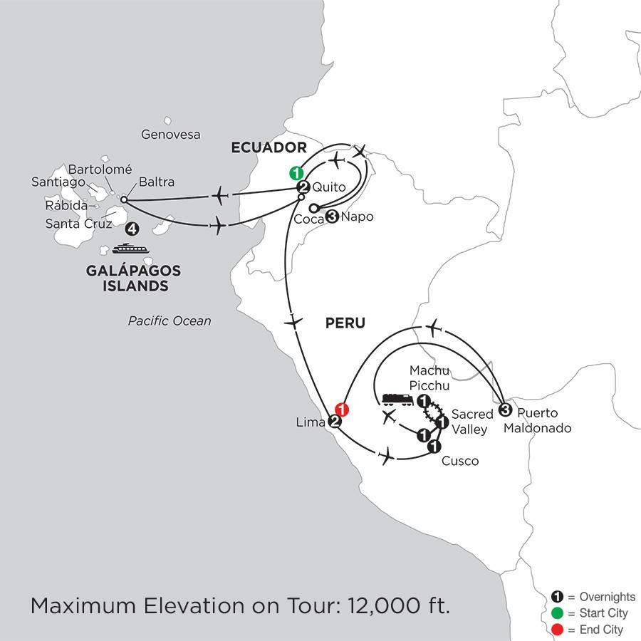 Cruising the Galápagos on board the Santa Cruz II with Peru, Ecuadors Amazon & Perus Amazon