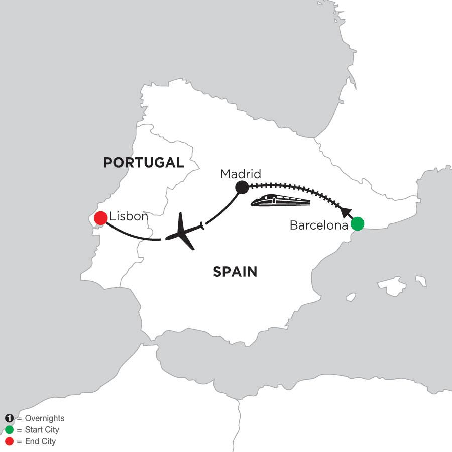 4 Nights Barcelona, 4 Nights Madrid & 5 Nights Lisbon