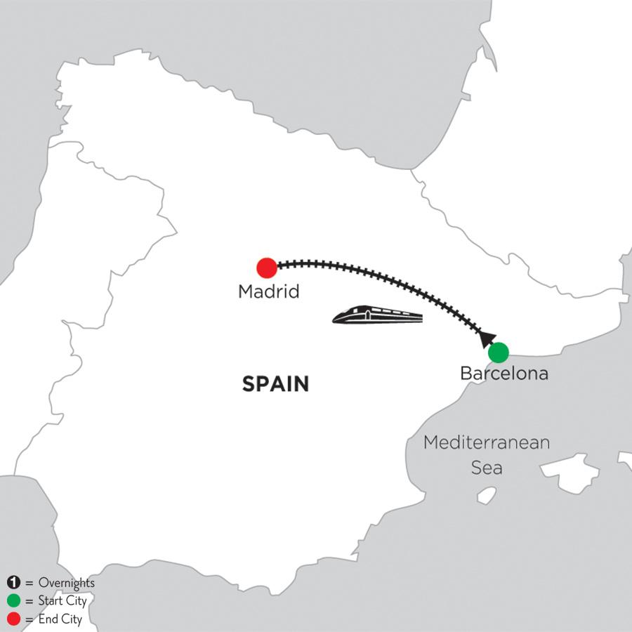 3 Nights Barcelona & 4 Nights Madrid