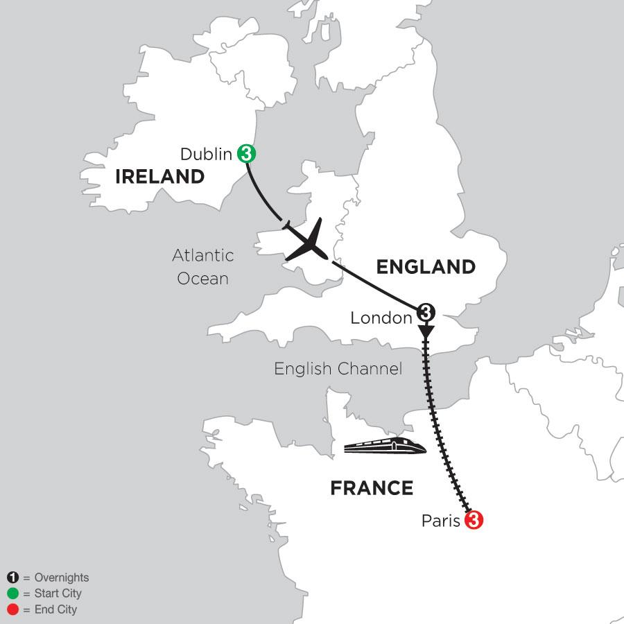 Map Of Dublin 3 Ireland.Ireland Travel Packages Monograms Travel