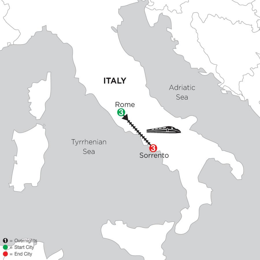 3 Nights Rome & 3 Nights Sorrento