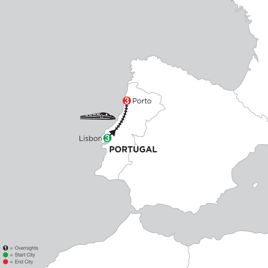 3 Nights Lisbon & 3 Nights Porto
