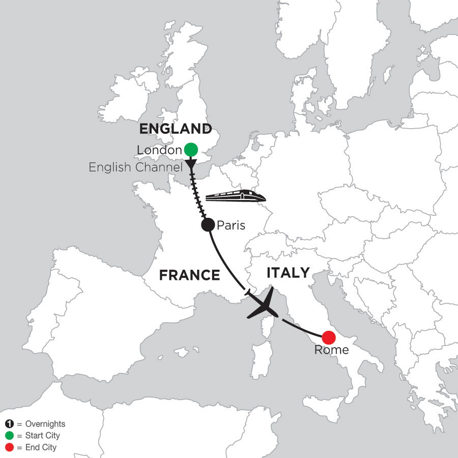 Map Of England France And Italy.Europe Vacation Packages Monograms Travel Packages