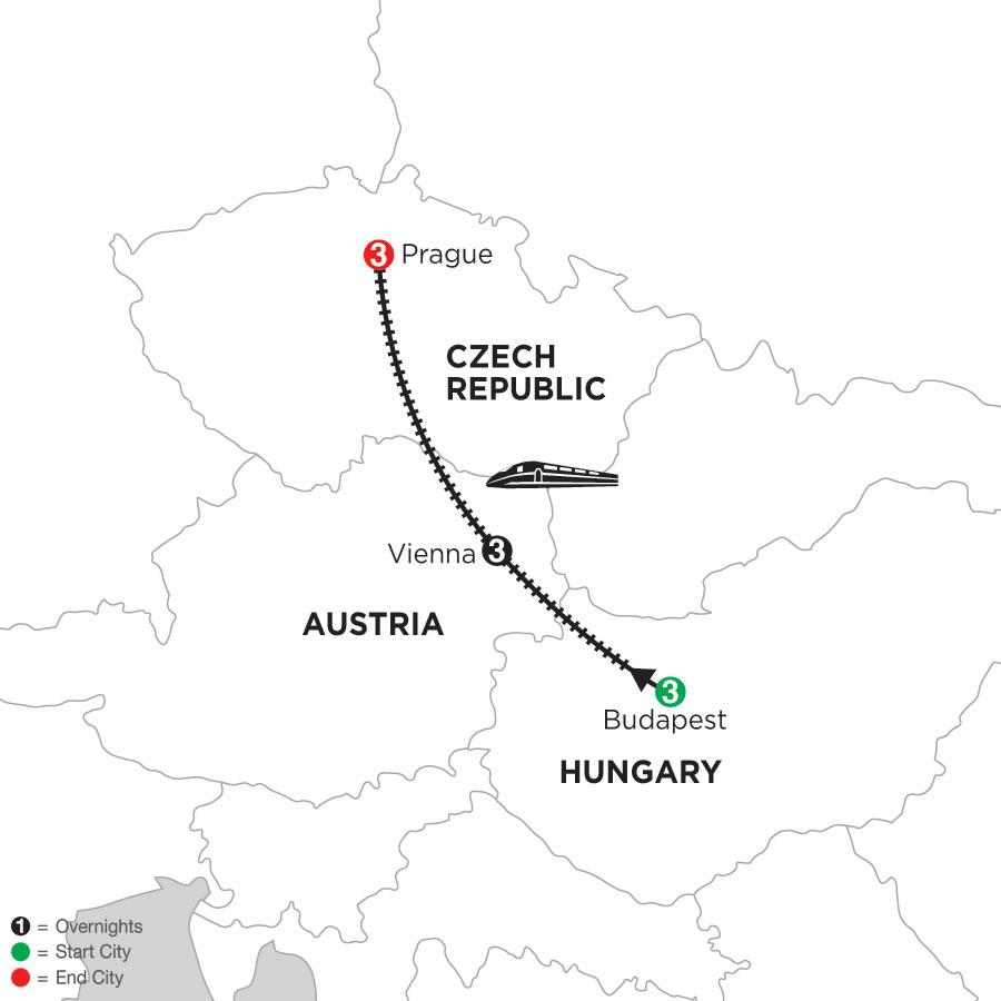 3 Nights Budapest, 3 Nights Vienna & 3 Nights Prague
