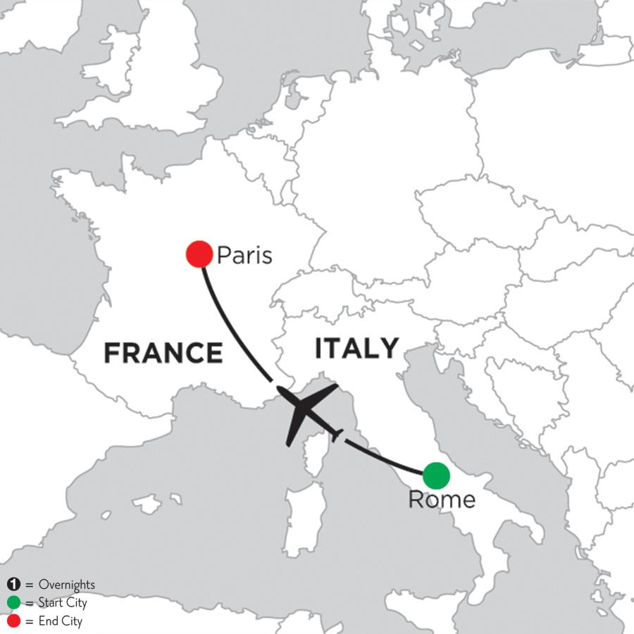 3 Nights Rome & 5 Nights Paris