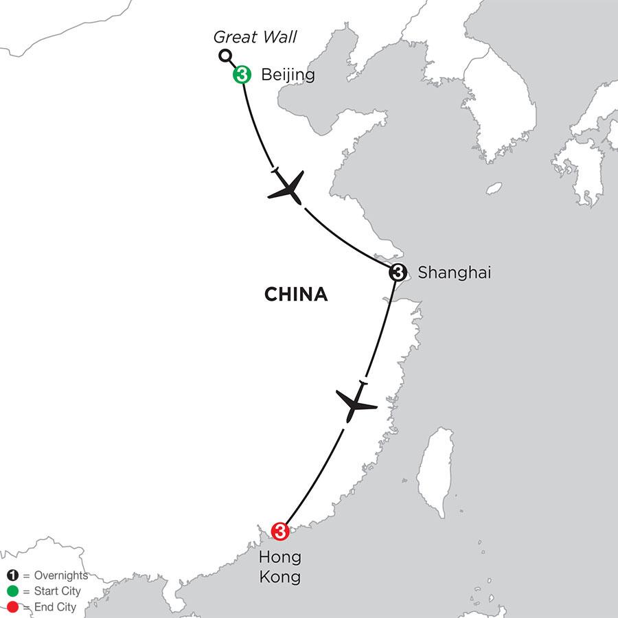 Beijing, Shanghai & Hong Kong