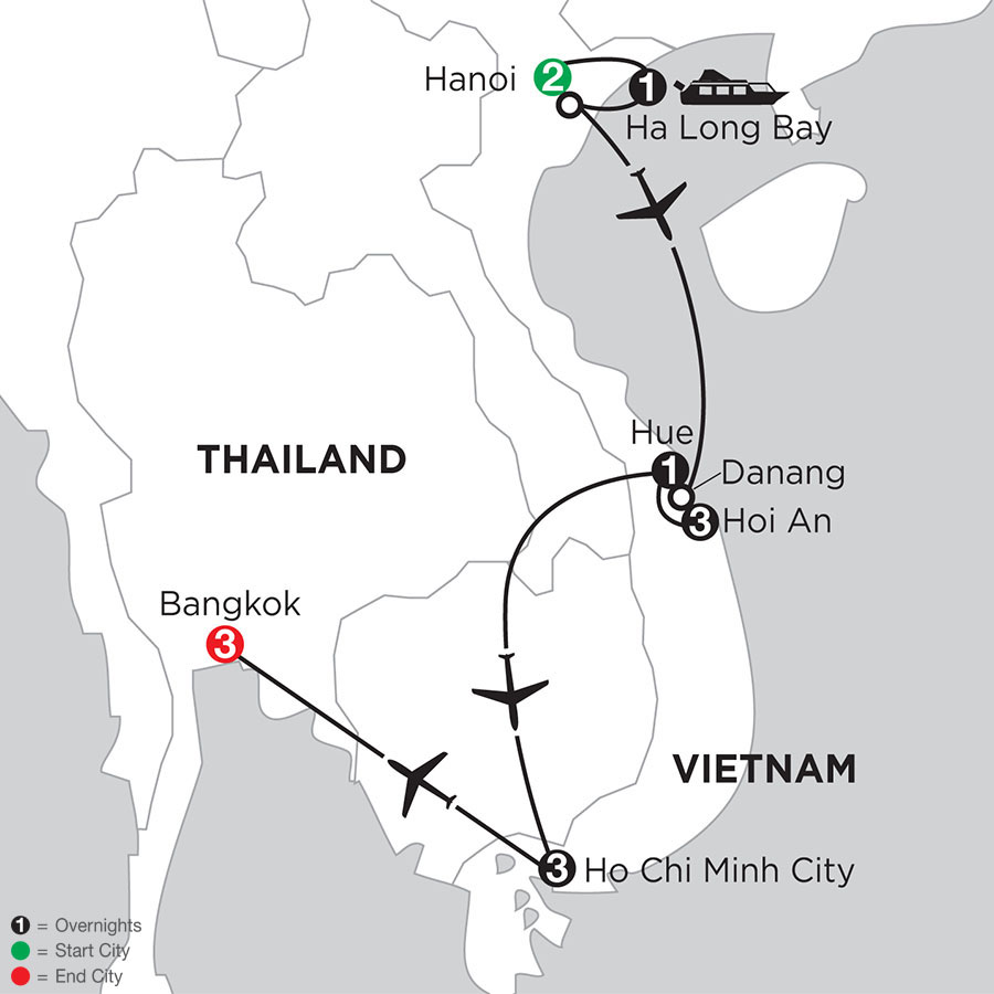 Enchanting Vietnam with Bangkok