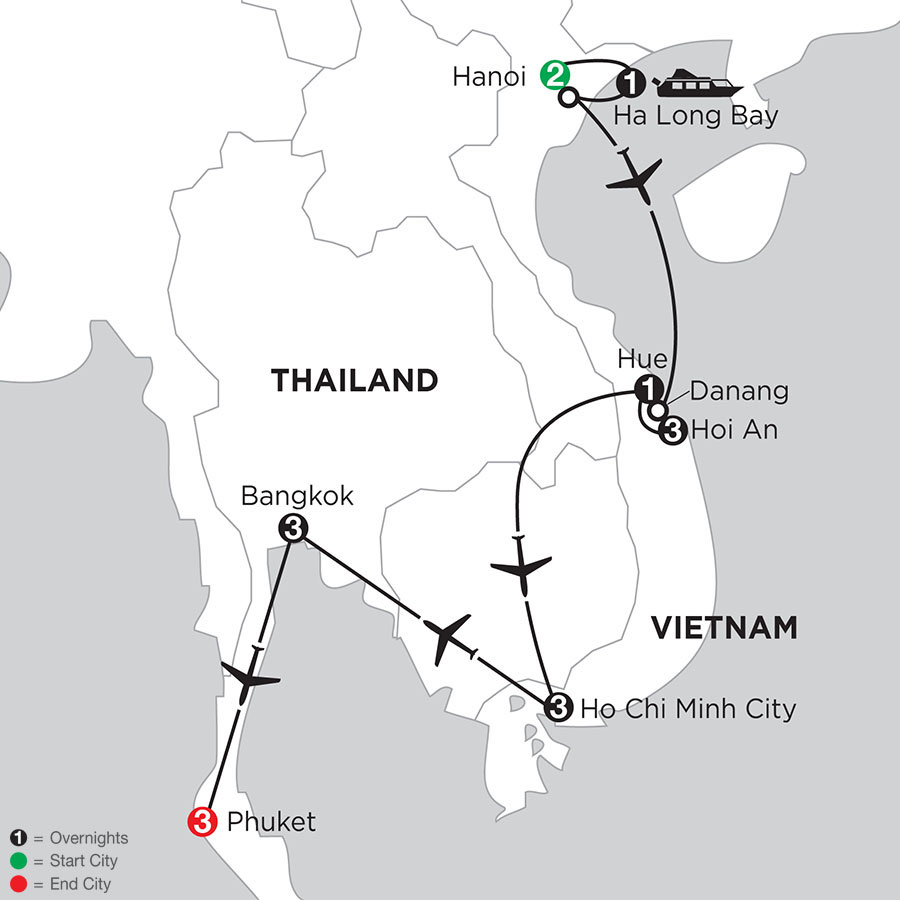 Enchanting Vietnam with Bangkok & Phuket