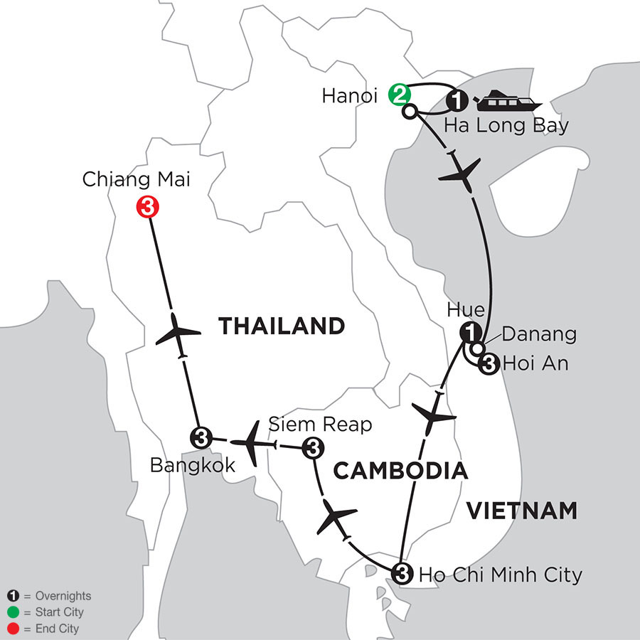 Enchanting Vietnam with Siem Reap, Bangkok, & Chiang Mai