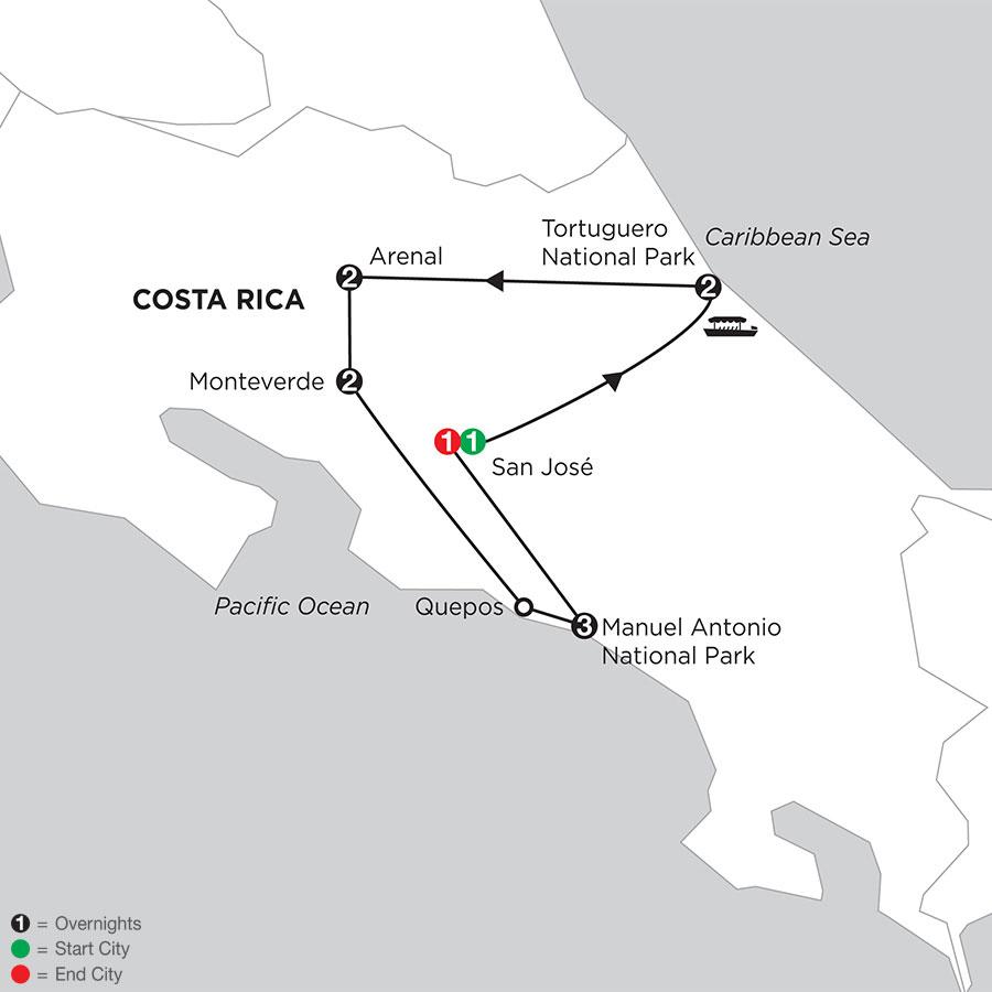 Costa Rica Wonders with Tortuguero & Manuel Antonio
