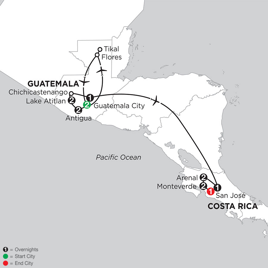 Best of Guatemala & Costa Rica with Tikal