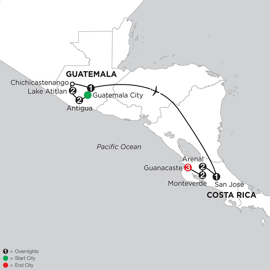 Best of Guatemala & Costa Rica with Guanacaste