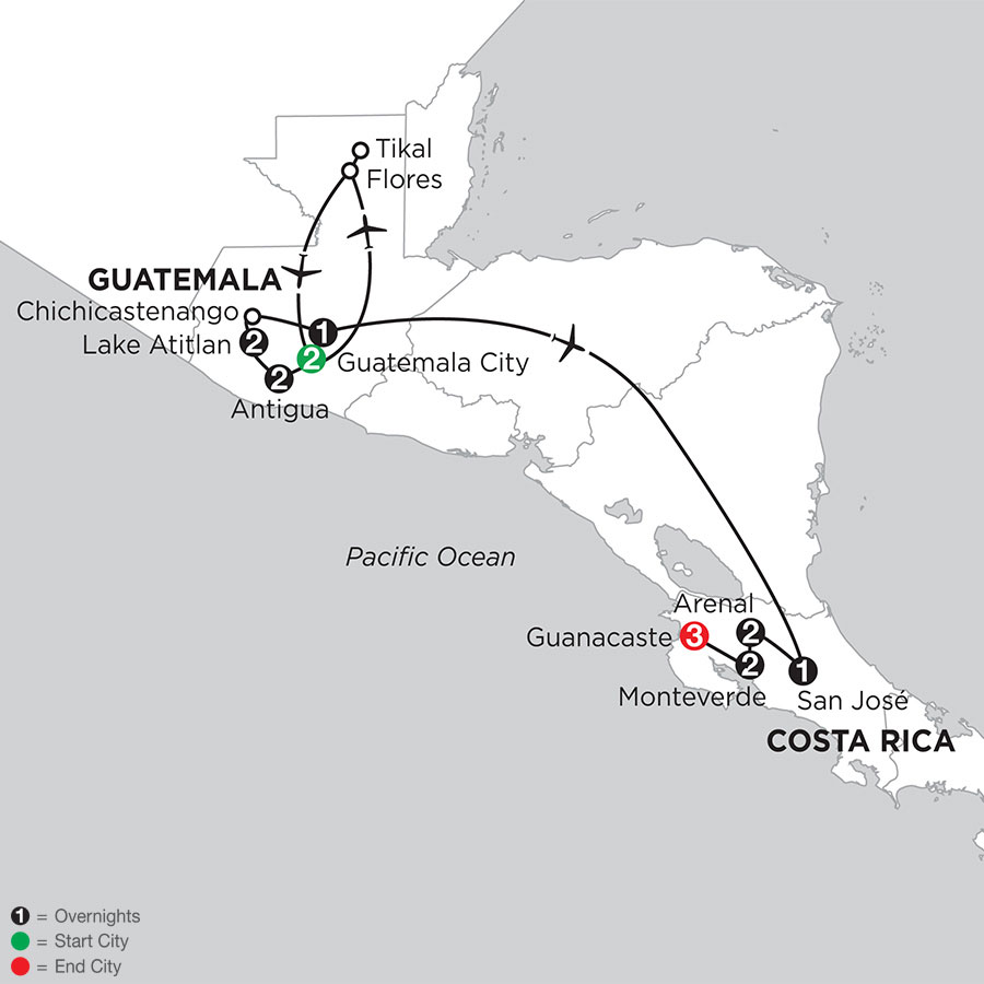 Best of Guatemala & Costa Rica with Tikal & Guanacaste