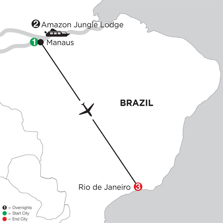 Rio de Janeiro Getaway with Brazil's Amazon