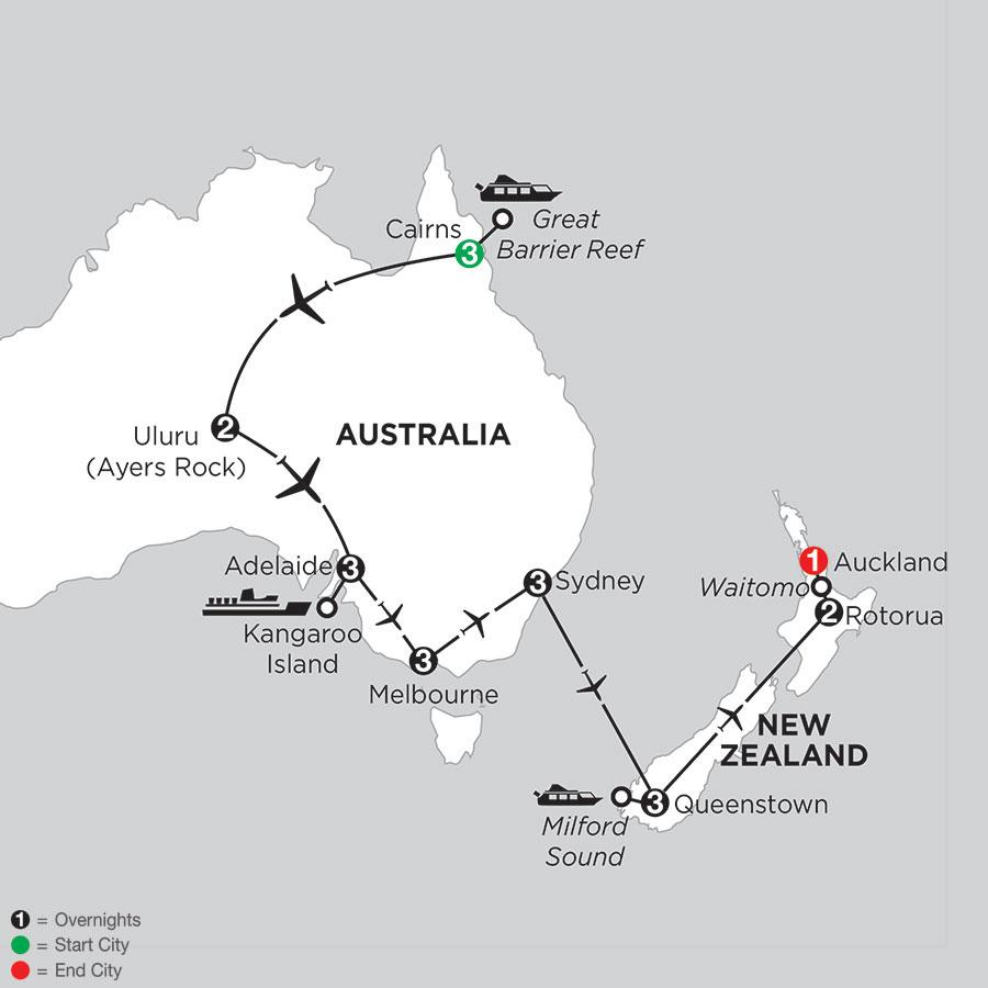 Aussie Adventure with Queenstown & Rotorua