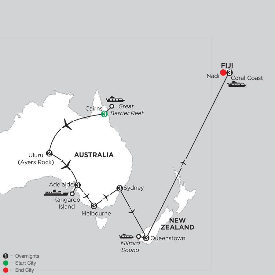 Aussie Adventure with Queenstown & Fiji