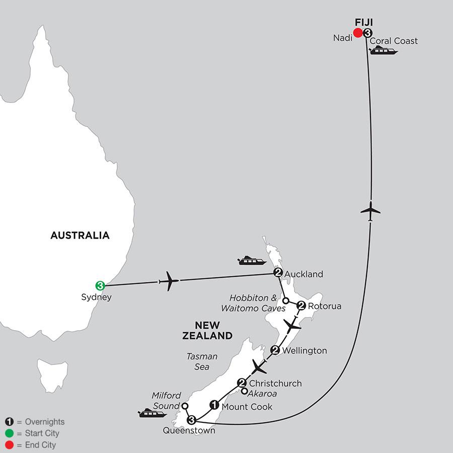 Naturally New Zealand with Sydney & Fiji