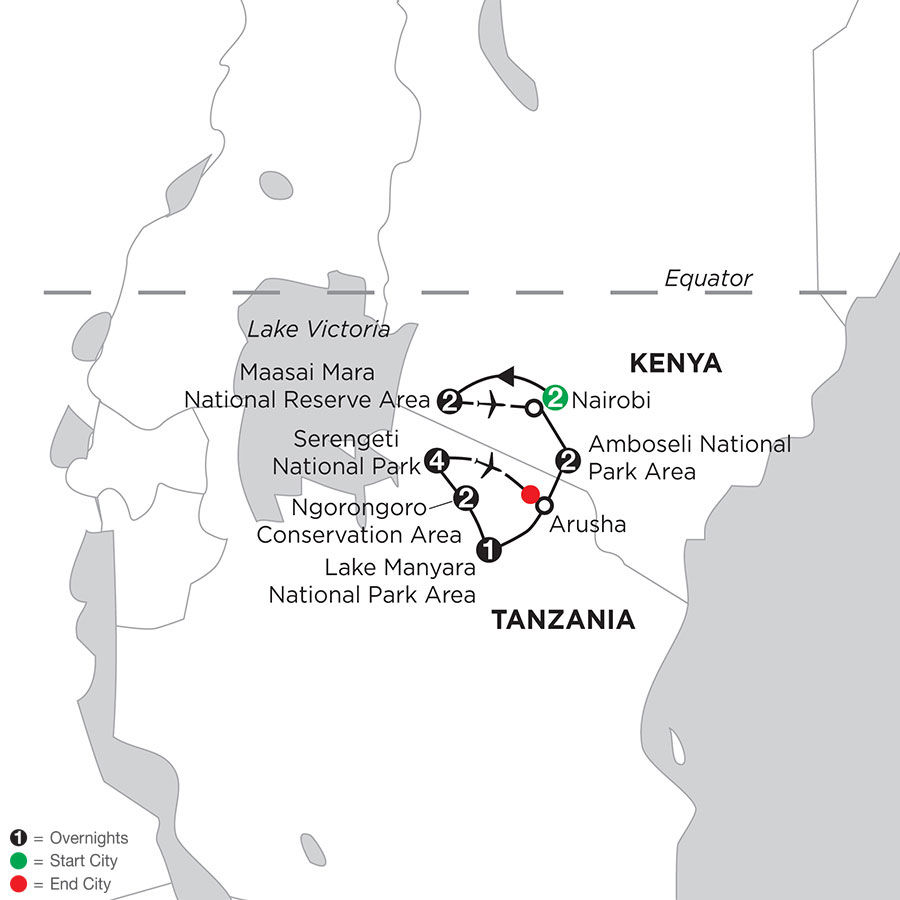 East Africa Private Safari with Nairobi & Stay in Serengeti
