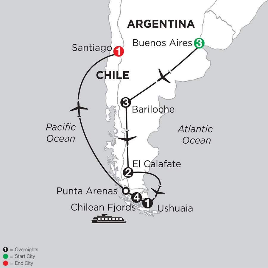 Argentina Highlights with Chilean Fjords Cruise