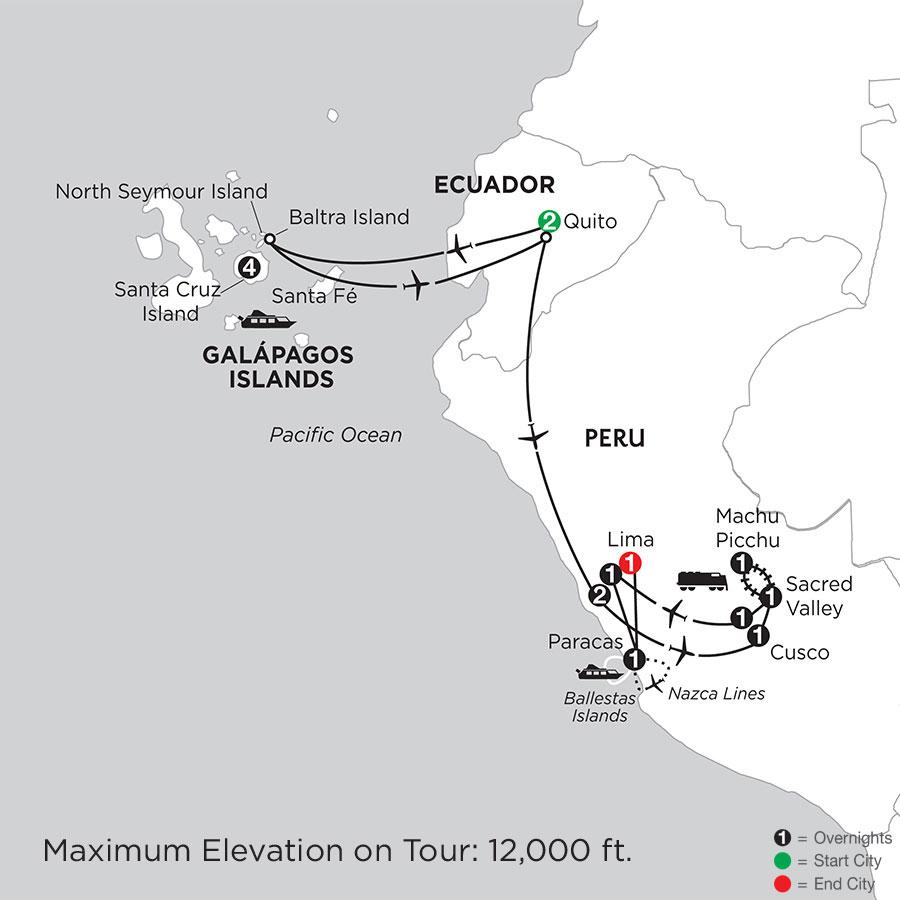 Galápagos Highlights & Peru with Nazca Lines