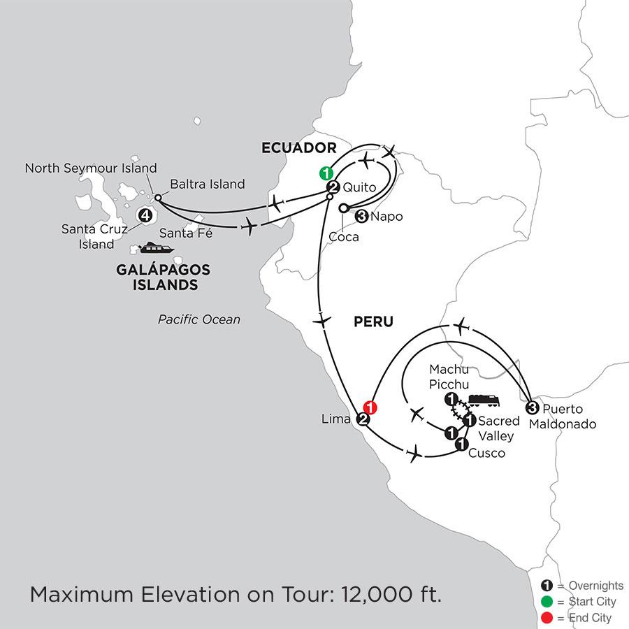 Galápagos Highlights & Peru with Ecuadors Amazon & Perus Amazon