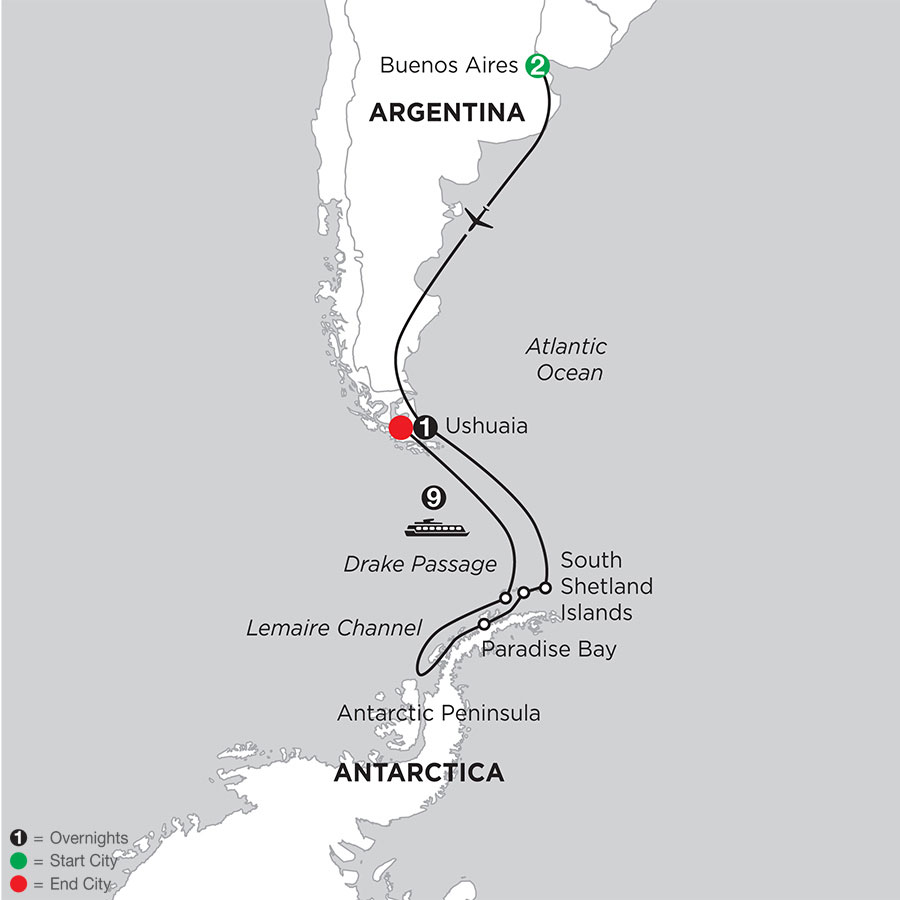 Voyage to Antarctica with Pre–Stay in Buenos Aires