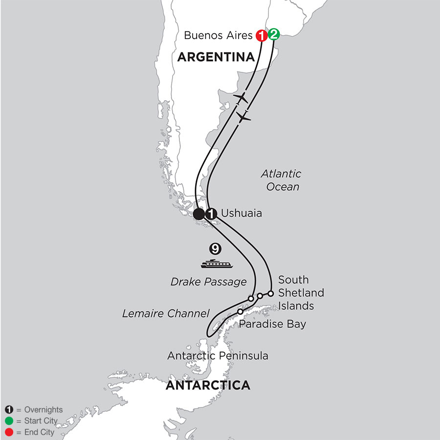 Voyage to Antarctica with Pre & Post–Stays in Buenos Aires