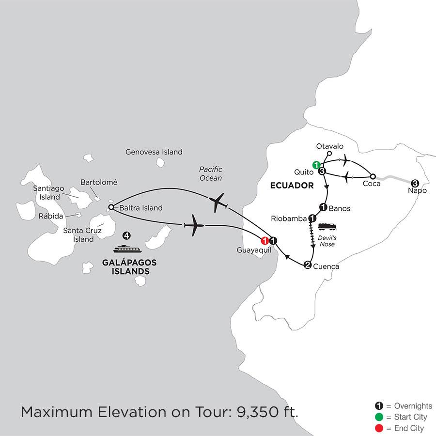Ecuador Discovery with Ecuadors Amazon & Galápagos Cruise on the Santa Cruz II