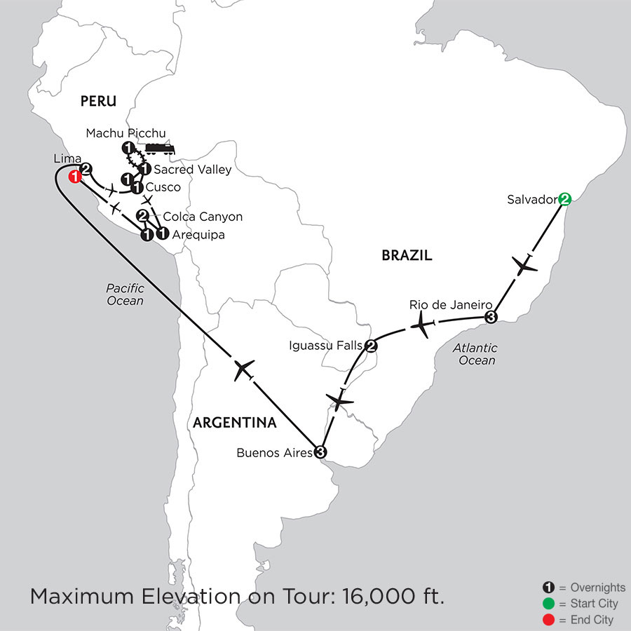 Grand Tour of South America with Salvador, Arequipa & Colca Canyon