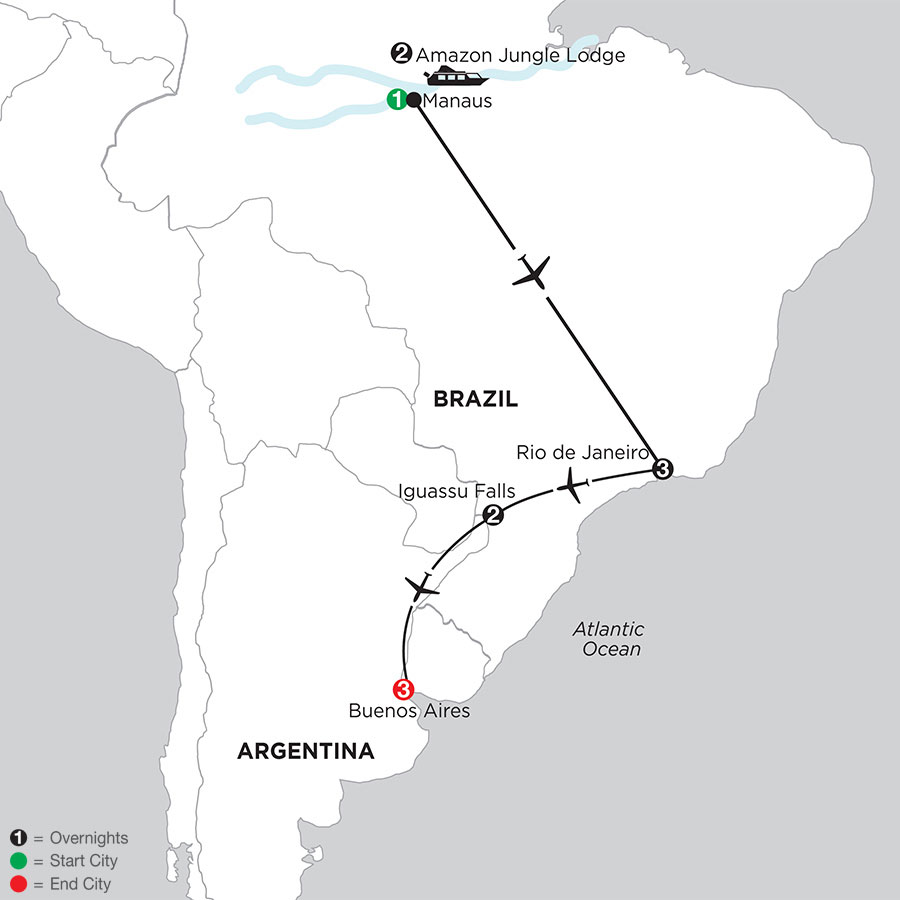 South American Selection with Brazil's Amazon