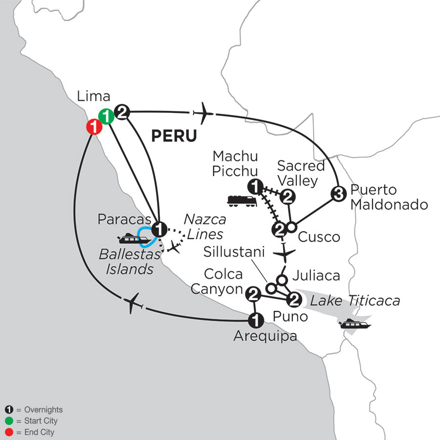 Peru's Amazon & the Andes with Nazca Lines, Arequipa & Colca Canyon