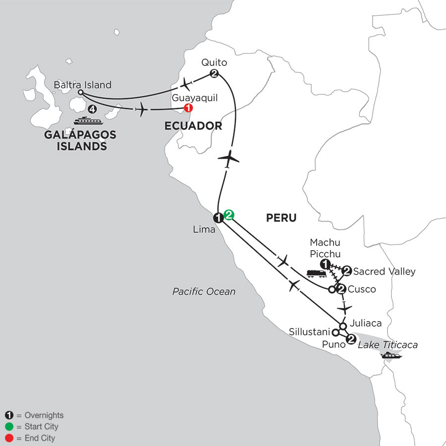 Andean Journey with the Galápagos on the Santa Cruz II