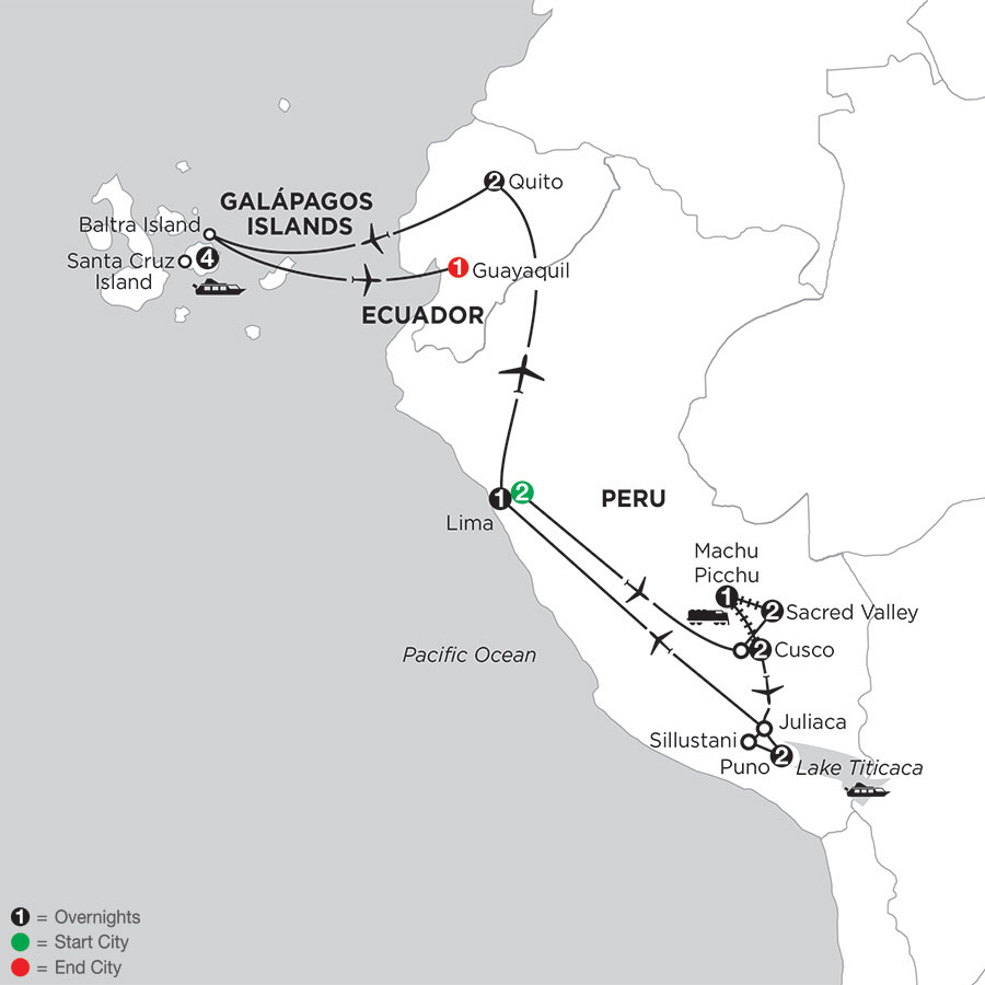Andean Journey with the Finch Bay in the Galápagos