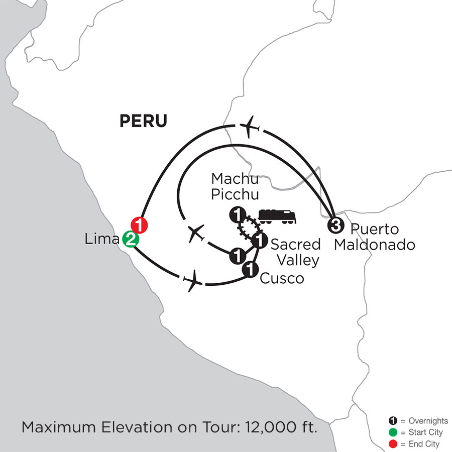 Peru Highlights with Perus Amazon