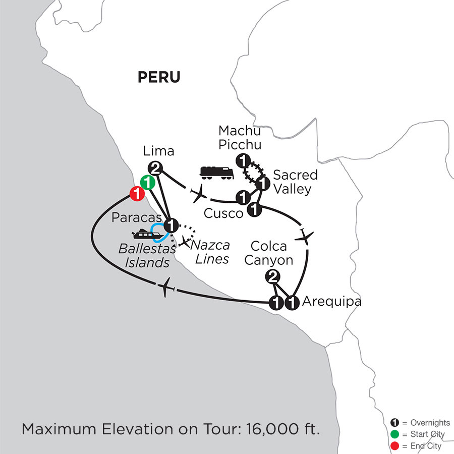 Peru Highlights with Nazca Lines, Arequipa & Colca Canyon