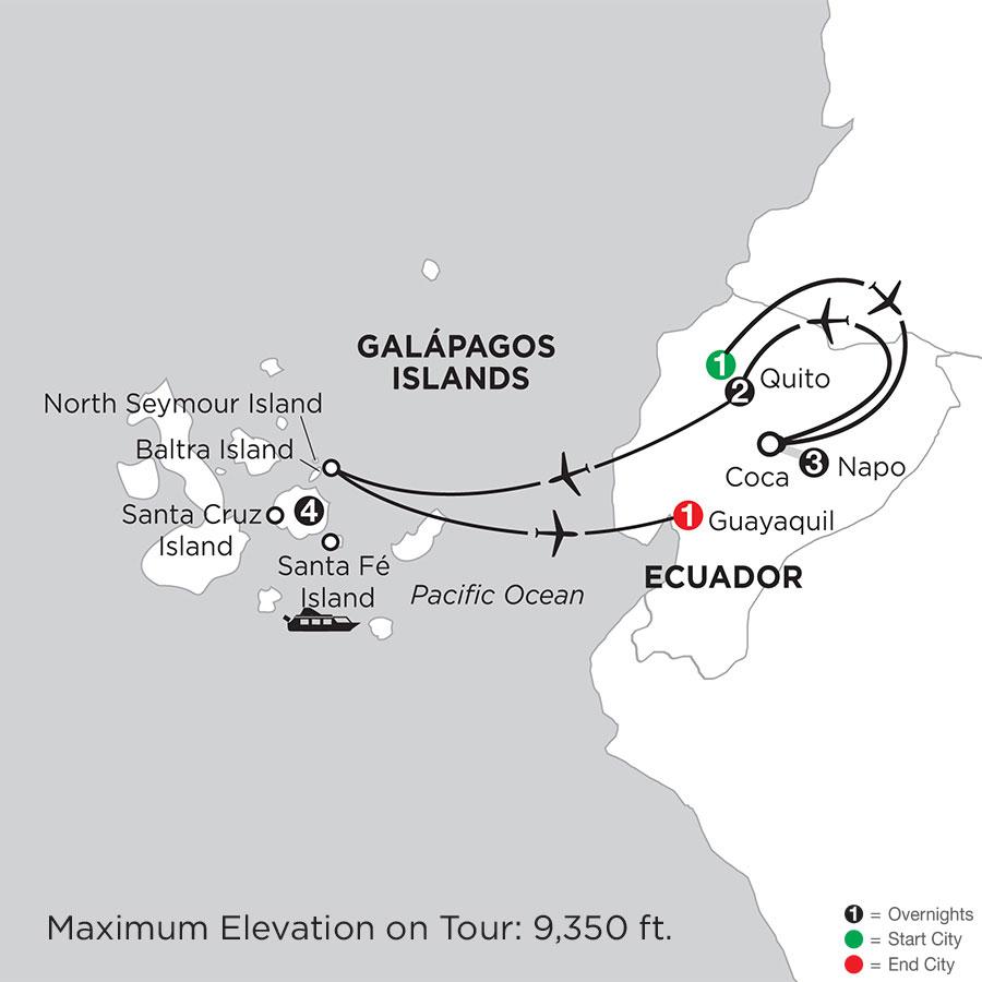 Galápagos Highlights with Ecuadors Amazon
