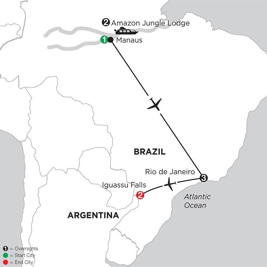 Brazil Highlights with Brazil's Amazon