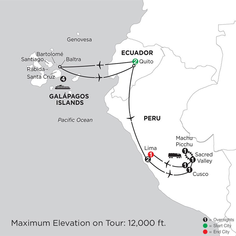 Cruising the Galápagos on board the Santa Cruz II with Peru