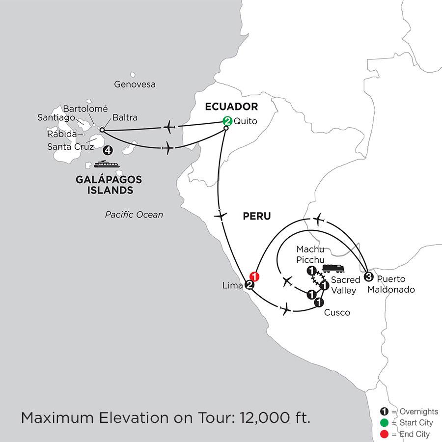 Cruising the Galápagos on board the Santa Cruz II with Peru & Perus Amazon