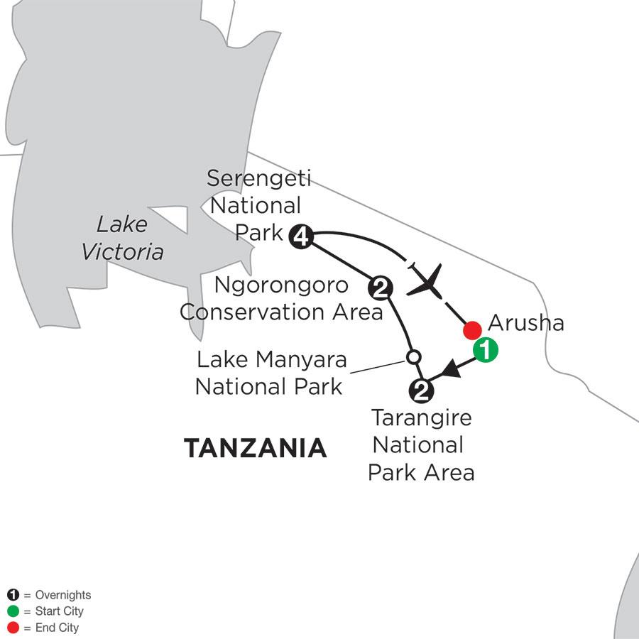 Tanzania Private Safari with Serengeti Stay