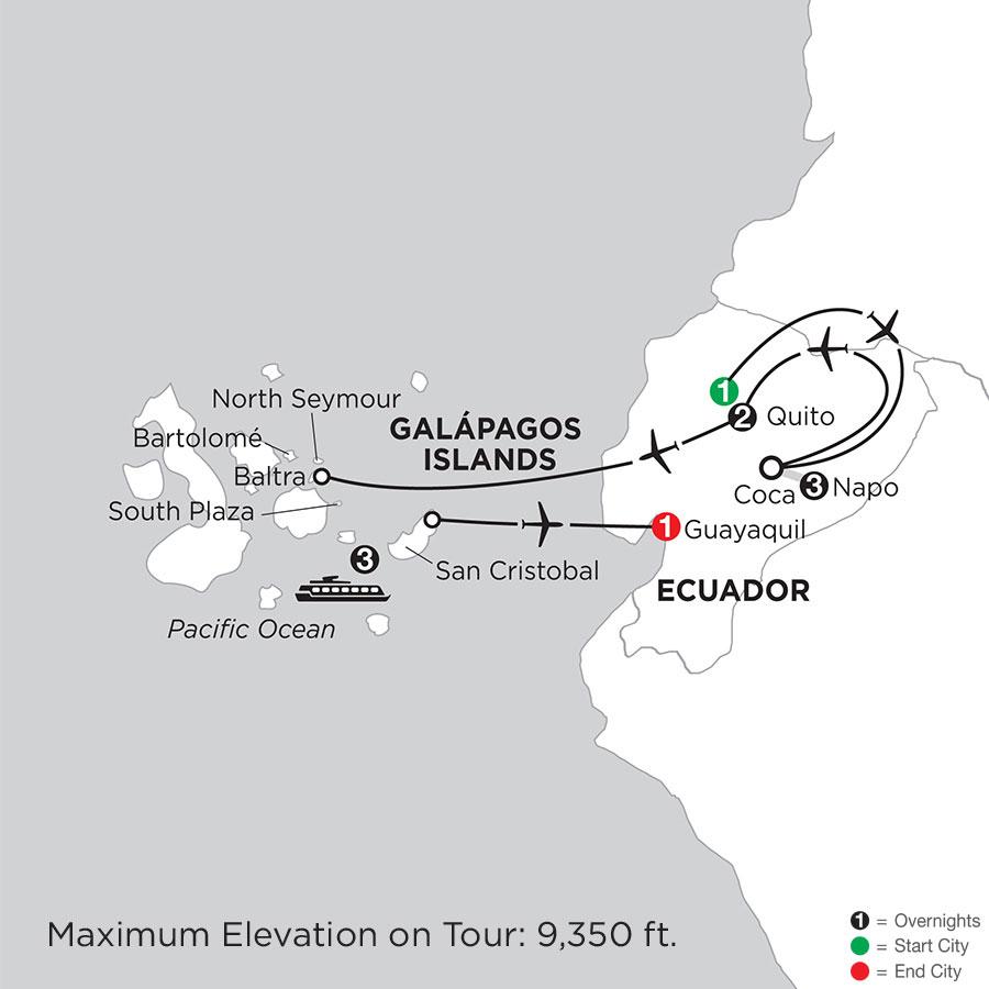 Ecuador Galapagos Islands Vacation Package Monograms