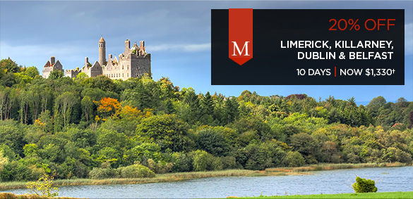 Limerick, Killarney, Dublin & Belfast - 10 days from $1,330+