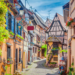 Medieval Eguisheim with Tarte Flambé Dinner