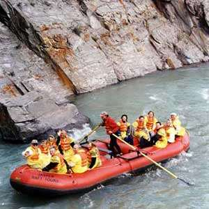Jasper Raft On The Athabasca River