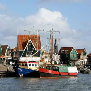 Volendam, its Windmill, and Cheese Farm